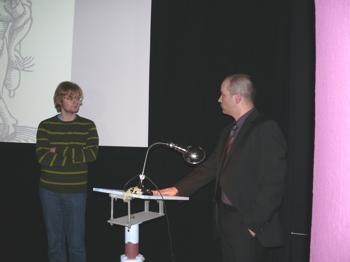 Stefan Höltgen mit Kurator Jochen Werner